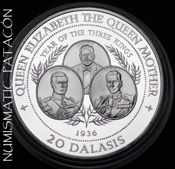 Moneda 1 Onza De Plata 925 De Gambia 1994 - En Capsula Proof