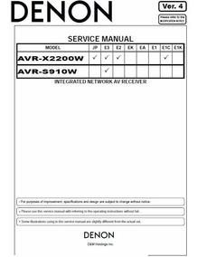 Manual De Serviço Receiver Denon Avr-x2200w