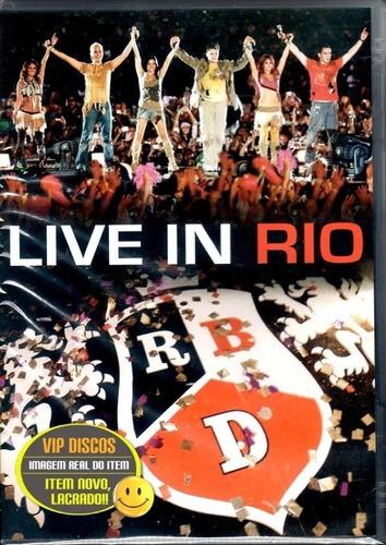 Dvd Rbd Live In Rio Rebelde - Original Lacrado Raro!!