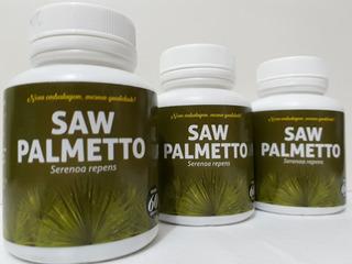 3 Frascos Saw Palmetto Serenoa Repens 180 Cápsulas