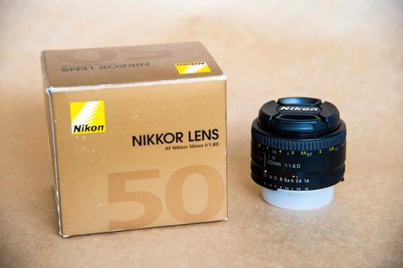 Lente Nikon 50mm F1:1.8 D