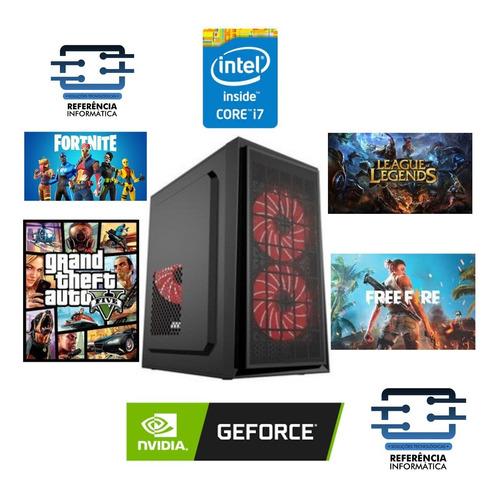 Imagem 1 de 1 de Pc Gamer Core I7 8gb Ddr3 Ssd 240gb Geforce 2gb Placa De Vid