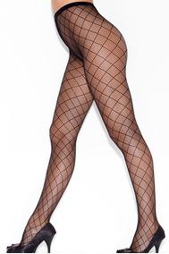 Sexy Medias Pantimedias Negro Elegante Red De Rombos 79722