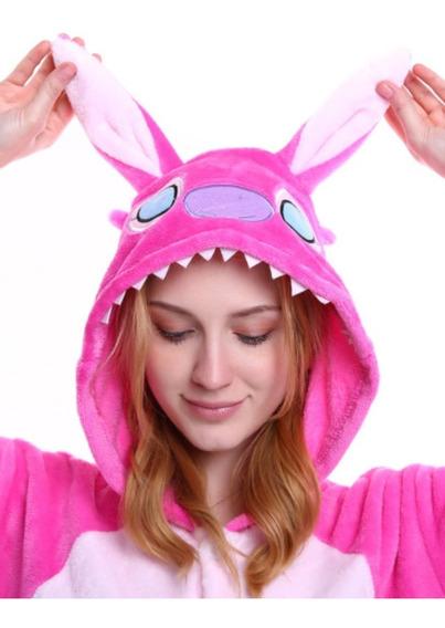 Pijama Angel Stitch Rosa Mameluco Kigurumi Envio Gratis!!