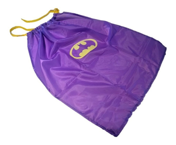 Capa Disfraz Batichica Batman Dc Comics Para Niña