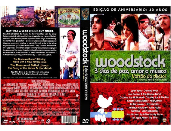 Dvd Box Só Show - Woodstock 1969 + Live Aid 1985 (9 Dvds)