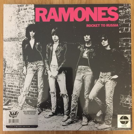 Box Lp + Cd Ramones Rocket To Russia 40th Anniversary Deluxe