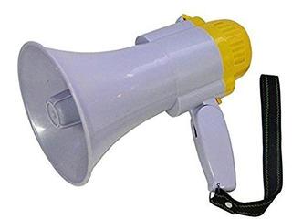 Altavoz Megafono Microfono De Mano Con Sirena Y Grabador Voz