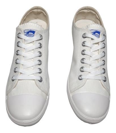 Zapatillas De Lona Jaguar Blancas Urbanas