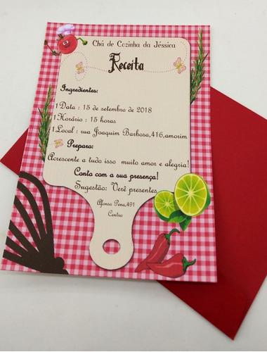 Imagem 1 de 4 de Convite Chá Panela Personalizado - 30 Unidades