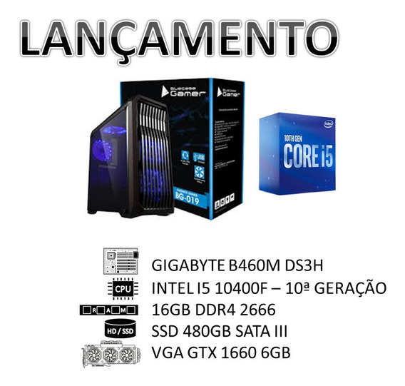 Lançamento Pc Intel 10ª Geração I5 10400f/16gb/ Ssd 480