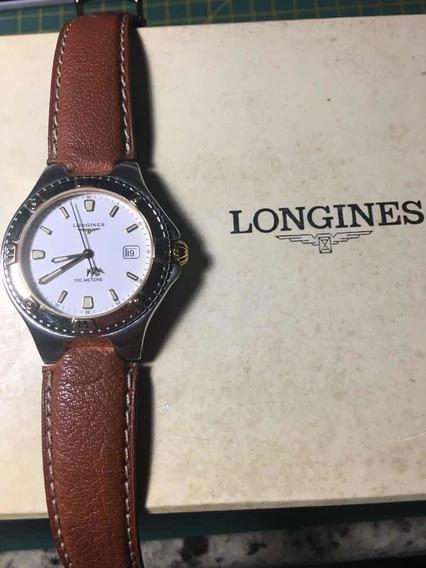 Lindo Relógio Longines/francês - Vidro Em Safira - Maq Swiss