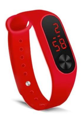 Relógio Digital Led Pulseira Fina Silicone Resistente Agua