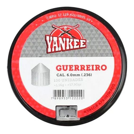 Chumbinho Yankee Guerreiro 6.0mm 100un.