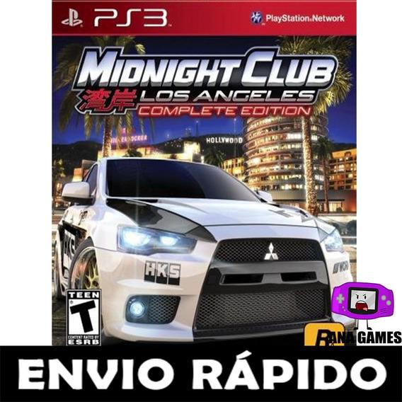 Midnight Club Los Angeles - Ps3 - Jogo Digital