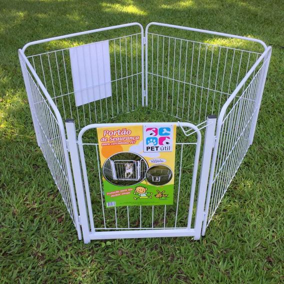 Cercado Pet Filhote Cão Casinha Cachorro 4/90cm +portão+kit