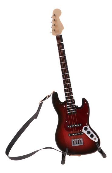 Instrumento Musical De Guitarra En Miniatura De Madera Para