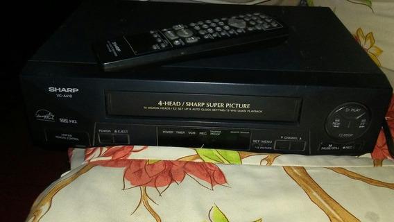 Vhs Marca Sharp Con Control Y Cable Coaxial.