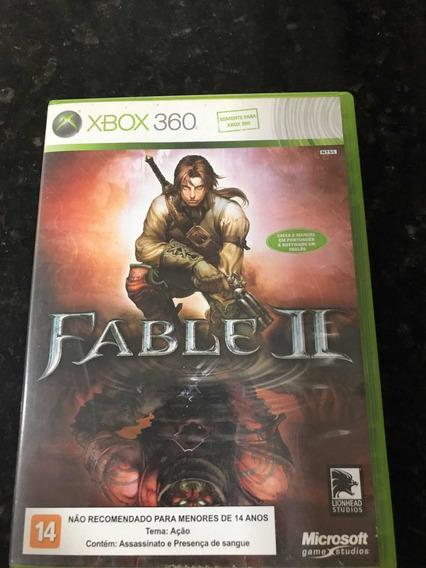 Jogo Xbox 360 Fable 2 Original Mídia Física
