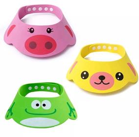Chapéu Viseira Banho Bebês Crianças Bichinhos Protetor Bh002