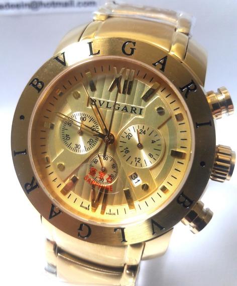 Relógio Bvlgari 658 Funcional Ouro Original Bulgari Bateria