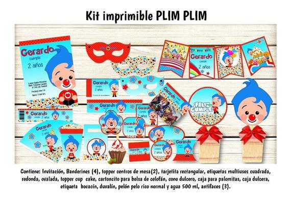 Kit Imprimible Plim Plim Editable