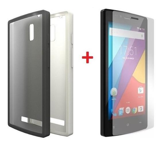 Kit Capa Smartphone Celular Navcity 5 + Película De Plástico