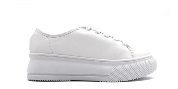 Zapatilla Dama Mujer Blanca Moda Plataforma 4228.201 Ful