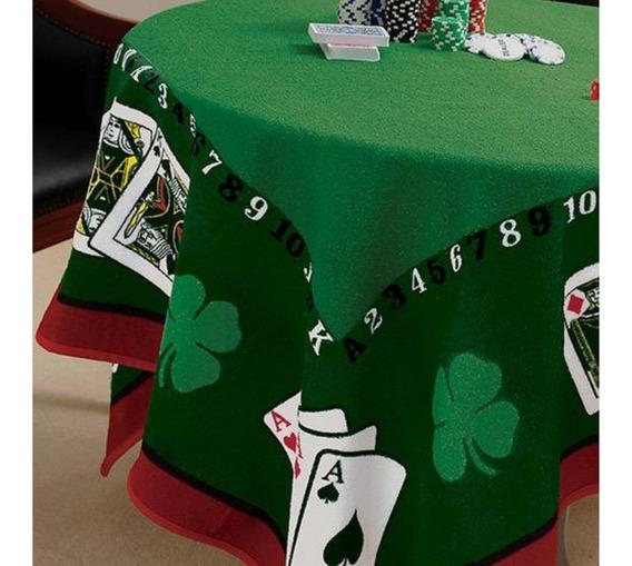 Toalha De Mesa Lepper Aveludada Jocker Baralho Poker Truco