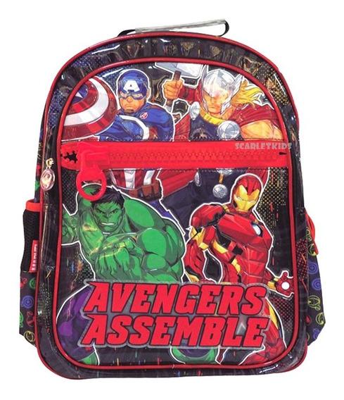 Mochila Avengers Espalda Original 18 PuLG Primaria Scarlet