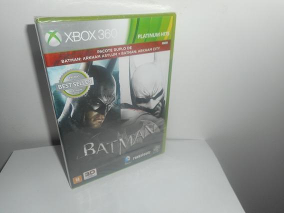 Batman Pacote Arkham Asylum + Arkham City Xbox 360 Lacrado