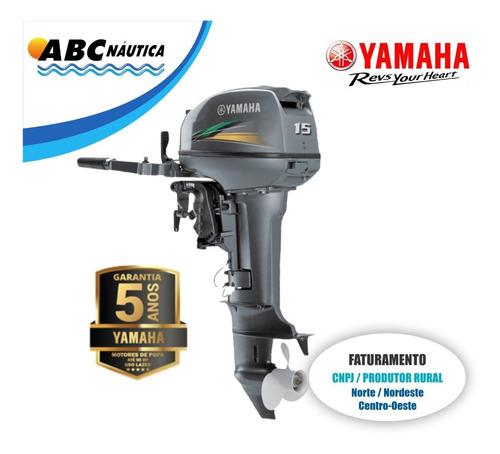 Motor De Popa Yamaha 15hp  Leia Anúncio
