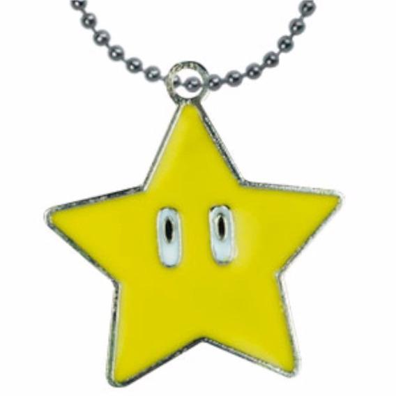 Super Mario Bros Dije Collar Estrella