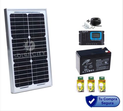 Kit Panel Solar Perú 105w 12v