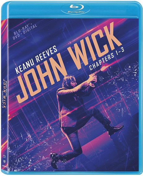 John Wick 1 2 3 Trilogia Boxset Peliculas Blu-ray