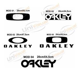 Adesivos Oakley Frete Grátis 2 Peças 20cm Veículos Moto