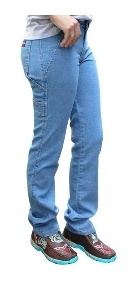 Calça Feminina Carpenter Jeans Delave Alabama