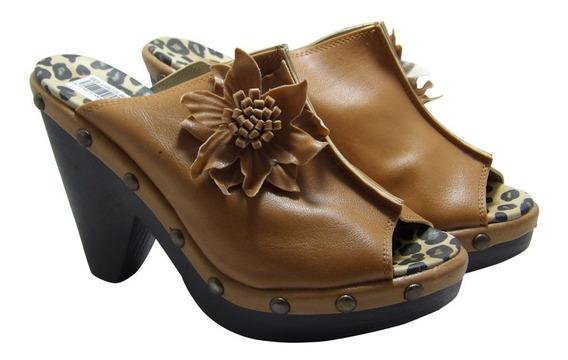 Sandalias Suecos Cuero Ecologico Mujer - Calzados Union