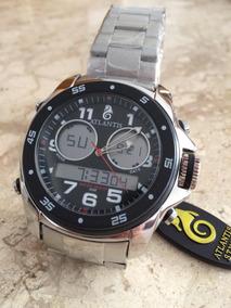 Relógio Atlantis G3216 Prata/preto Analógico/digital