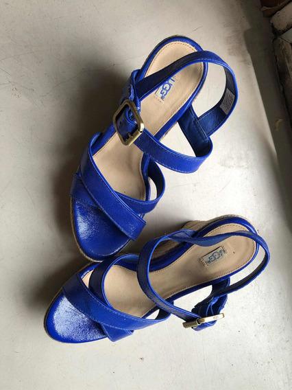 Vendo Sandalias Azules Ugg Originales Talle 36
