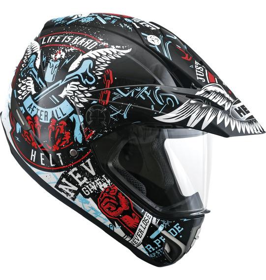 Capacete Motocross Vision Angel Com Viseira Cross Helt 21197