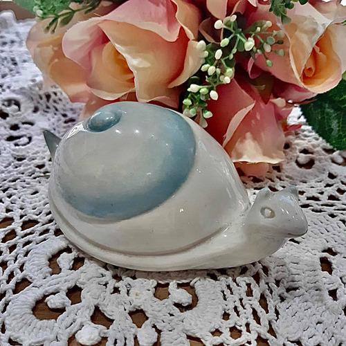 Imagen 1 de 6 de Caracol Figura De Porcelana Italiana Capodimonte