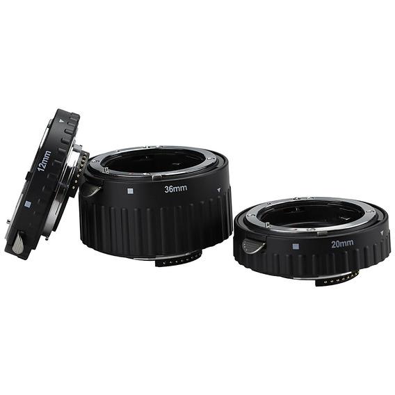 12mm 20mm 36mm Automático Foco Lente Macro Tubo Extensão Par