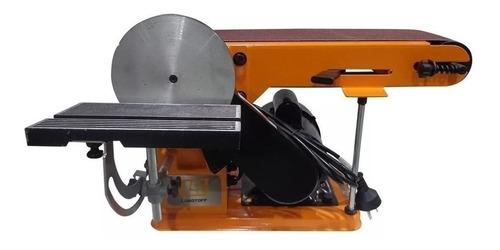 Lijadora de banda y de disco Lusqtoff LQLB-250 naranja 50Hz 220V