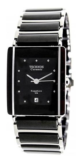 Relógio Technos Elegance Preto Cerâmica Vidro Safira Barato