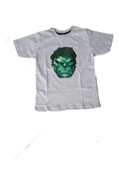 Remeras Con Luces Capitan America-hulk- Thanos-spiderman