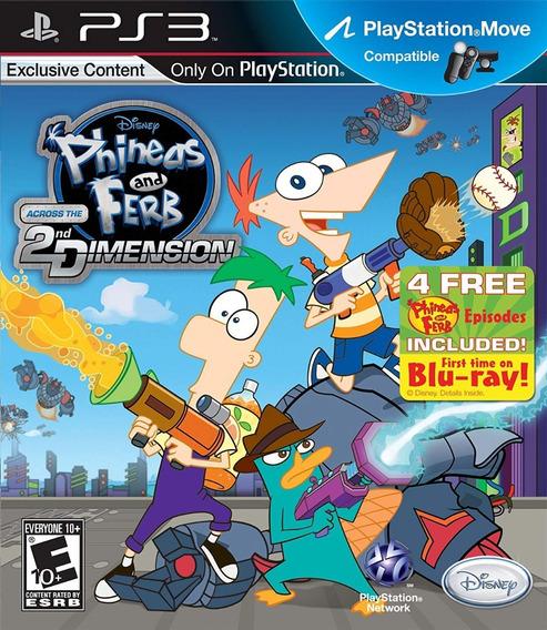 Jogo Phineas Ferb Across 2nd Dimension Ps3 Game Frete Grátis
