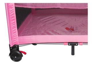 Corral Cuna Baby Infanti Color Rosado