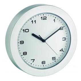 Relógio De Parede Alemão Prata