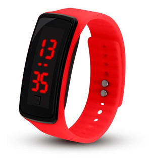 Relógio Inteligente Modelo Unissex Adulto Infantil Vermelho